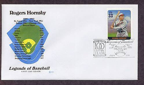 Rogers Hornsby,  Baseball Legend, Second Base, First Issue