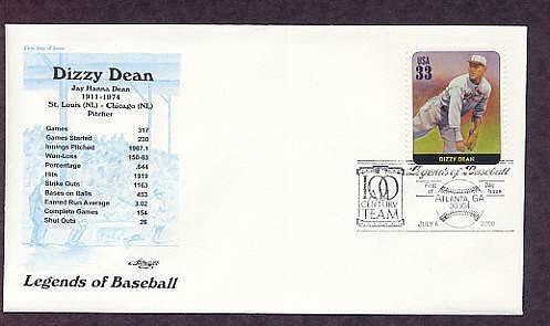 Dizzy Dean, Baseball Legend, Pitcher, First Issue USA
