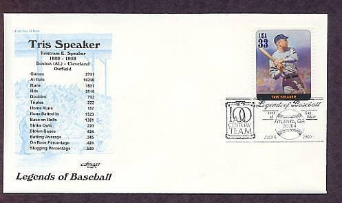 Tris Speaker, Baseball Legend, First Issue USA