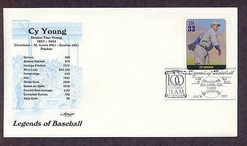 Cy Young, Baseball Legend, Pitcher, First Issue USA