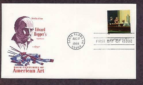 American Art, Edward Hopper, Nighthawks, First Issue USA