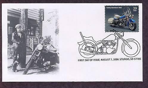 American Motorcycles, Harley-Davidson 1965, Marlon Brando, Sturges, South Dakota First Issue USA