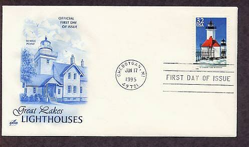Great Lakes Lighthouses, St. Joseph, Lake Michigan First Issue USA