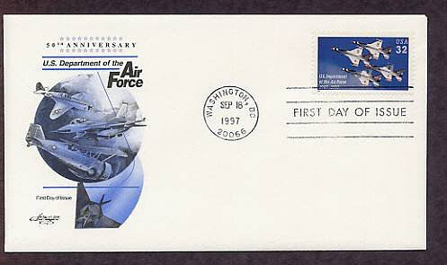 50th Anniversary of the U.S. Department of the Air Force, Aircraft, Thunderbirds First Issue USA