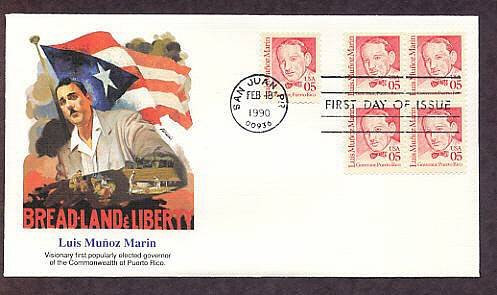 Puerto Rico First Governor Luis Marin, First Issue Fleetwood USA