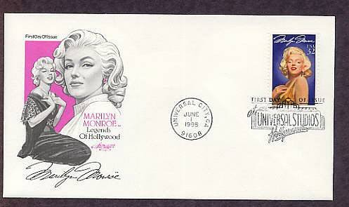 Honoring Hollywood Legend Marilyn Monroe First Issue FDC USA
