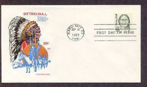 Sioux Chief Sitting Bull Native American Indian First Issue HF FDC USA