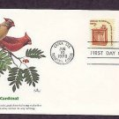Cardinal, Wildlife that Shares the Border Between Canada and the USA, First Issue
