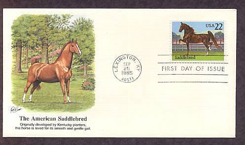 American Saddlebred Horse, Lexington, Kentucky First Issue USA