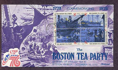 Boston Tea Party Ships, Bicentennial, First Issue USA
