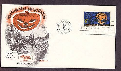 Legend of Sleepy Hollow, Headless Horseman, Halloween, Washington Irving First Issue USA