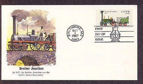 Railroad Steam Locomotive, Brother Jonathan, Fleetwood First Issue USA