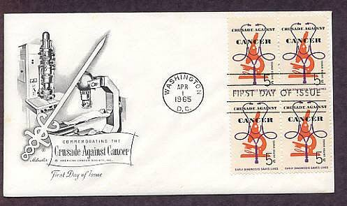 Crusade Against Cancer, Microscope, 1965 First Issue USA