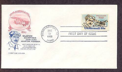 Aviation Pioneer Glenn Curtiss, Aircraft, Airmail HF First Issue USA