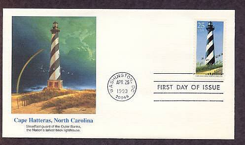 Cape Hatteras Lighthouse North Carolina First Issue USA