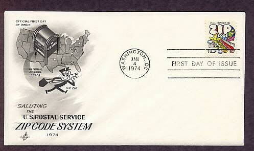 Mr. Zip Letter Carrier, U.S. Postal Service, First Issue USPS USA