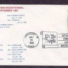 Rhode Island Statehood Bicentennial HC First Issue FDC USA