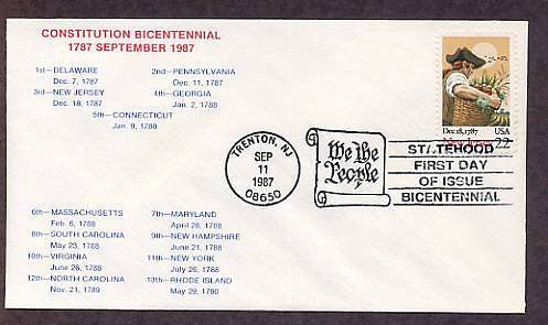 New Jersey Statehood Bicentennial, HC First Issue FDC USA