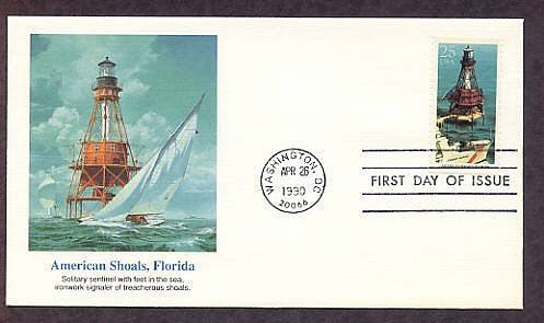 American Shoals Lighthouse, Florida Keys, FW First Issue USA