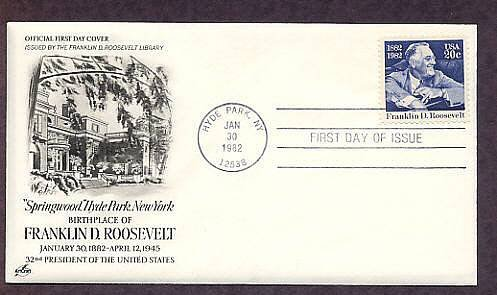 President Franklin Delano Roosevelt, FDR, Hyde Park, FDR Library First Issue USA