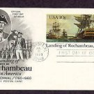 Landing of Rochambeau in America, Bicentennial Postal Card First Issue USA