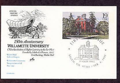 Anniversary Willamette University, Oldest School of Higher Learning in the Far West, Postal Card