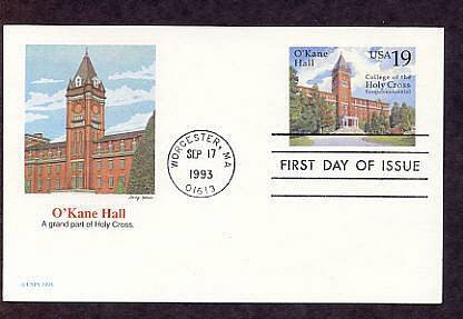 Sesquicentennial College of the Holy Cross Postal Card First Issue USA
