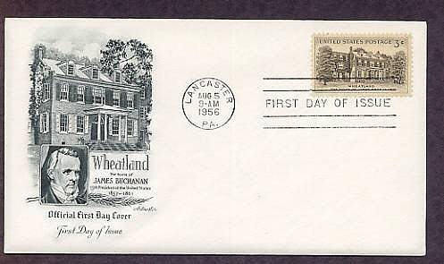 Wheatland, Home of President James Buchanan, 1956 First Issue USA