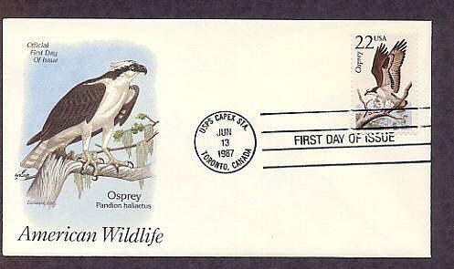 Osprey, North American Wildlife, First Issue USA