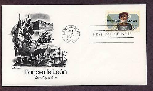 Spanish Conquistador and Florida Explorer Ponce de Leon, AM First Issue USA