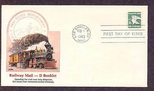 "Non-Denominated ""D"" Issue, Eagle, Railway Mail, Steam Locomotive Train, First Issue USA"
