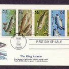 Fish, Muskellunge, Atlantic Cod, Largemouth Bass, Bluefin Tuna, and Catfish First Issue USA