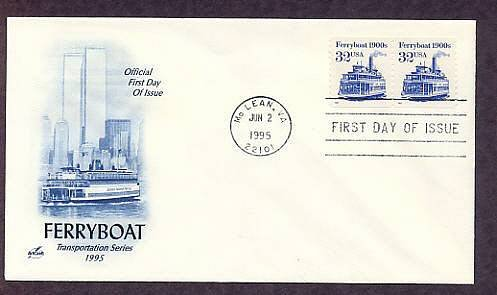 Ferryboat 1900s, Staten Island Ferry, Twin Towers World Trade Center, First Issue USA