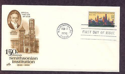 150th Anniversary, Smithsonian Institution, 1996 First Issue USA