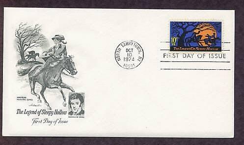 Legend of Sleepy Hollow, Headless Horseman, Washington Irving, AM First Issue USA