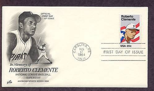 Roberto Clemente, Pittsburgh Pirates Baseball Athlete, Puerto Rico First Issue FDC USA