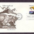 Prehistoric Animals, Saber-tooth Cat, First Issue USA