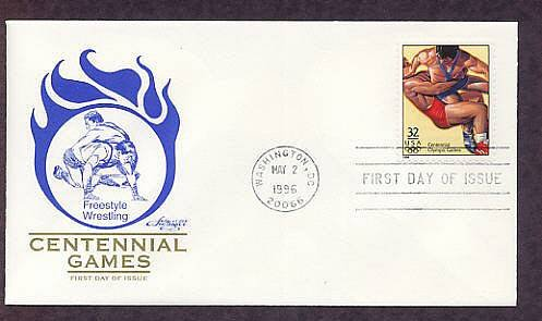 Atlanta 1996 Centennial Olympic Games, Freestyle Wrestling, First Issue USA