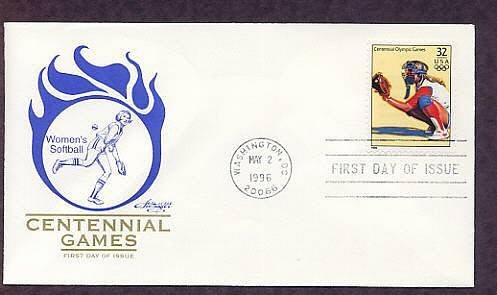Atlanta 1996 Centennial Olympic Games, Women's Softball, First Issue USA