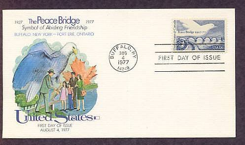 50th Anniversary the Peace Bridge, Joining the United States and Canada, First Issue USA