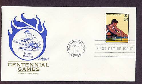 Atlanta 1996 Centennial Olympic Games, Men's Rowing, First Issue USA