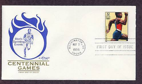 Atlanta 1996 Centennial Olympic Games, Men's Sprinting Events, First Issue USA