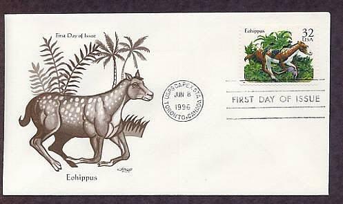 Prehistoric Animals,  Eohippus, Forerunner of the Modern Horse, First Issue USA