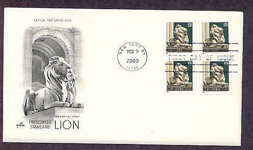 New York Public Library Lion, First Issue USA