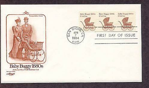 Wicker Baby Buggy 1880s, AM First Issue USA