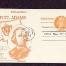 Honoring Revolutionary War Patriot Samual Adams, First Issue USA