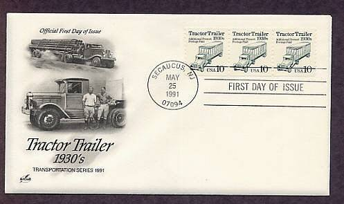 Tractor Trailer 1930s, First Issue USA