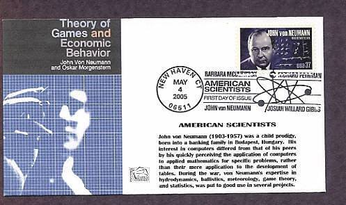 John Von Neumann, Child Prodigy Mathematician, First Day of Issue, FDC USA