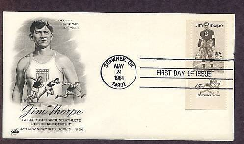 Native American Indian Legend Jim Thorpe, AC First Issue USA