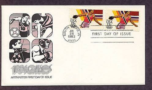 Olympics 1984, Discus, First Issue USA